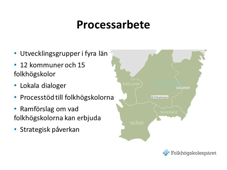 Processarbete Utvecklingsgrupper i fyra län