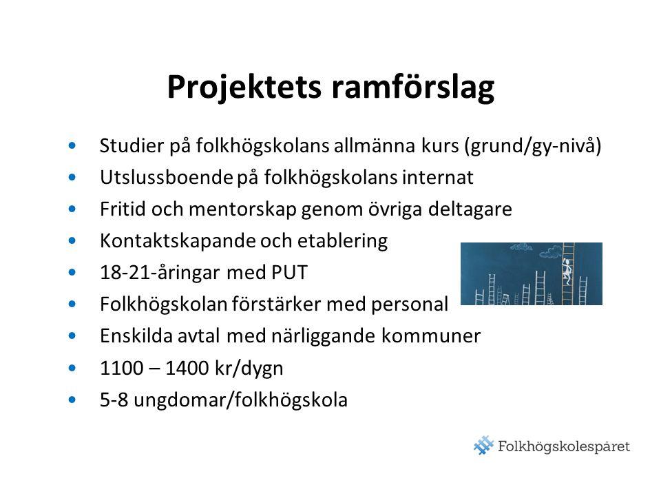 Projektets ramförslag