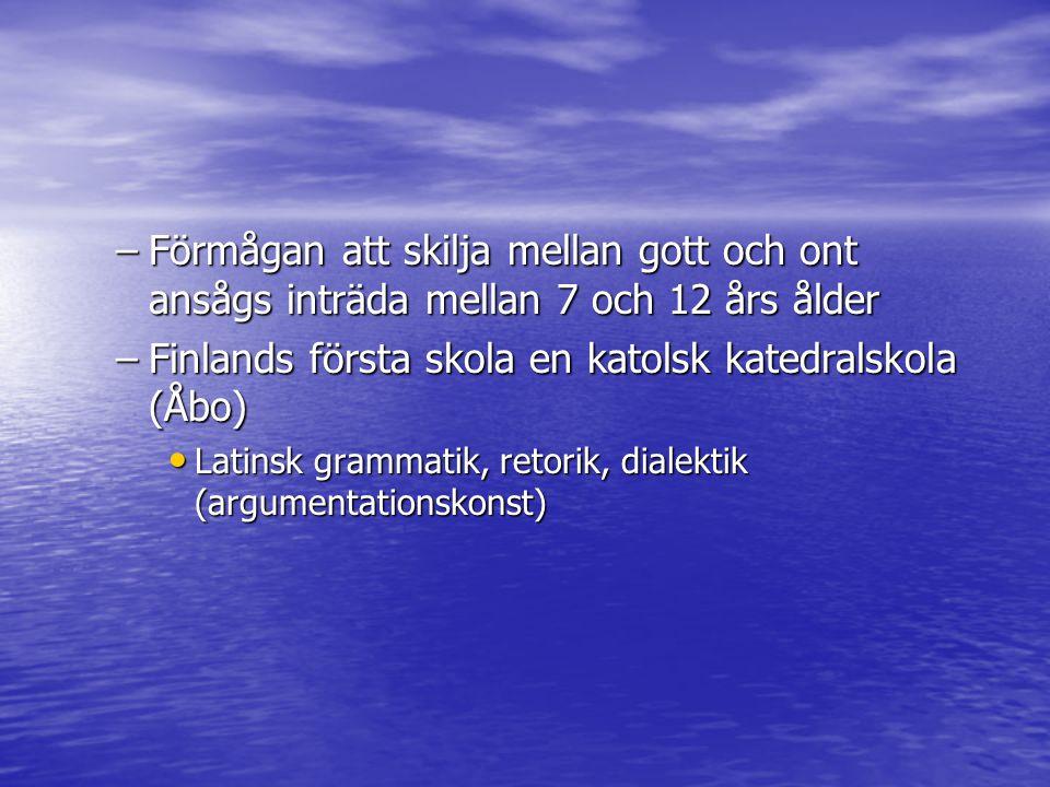 Finlands första skola en katolsk katedralskola (Åbo)