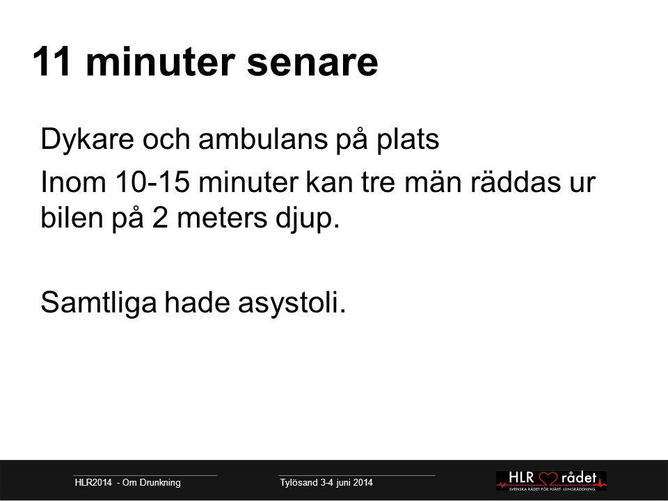 11 minuter senare Dykare och ambulans på plats