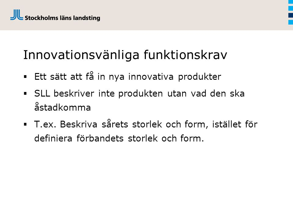 Innovationsvänliga funktionskrav