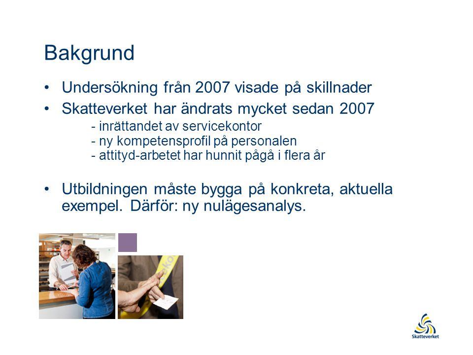 Bakgrund Undersökning från 2007 visade på skillnader
