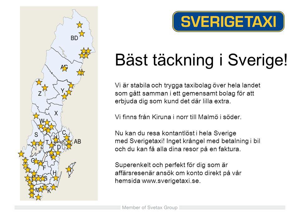 Bäst täckning i Sverige!
