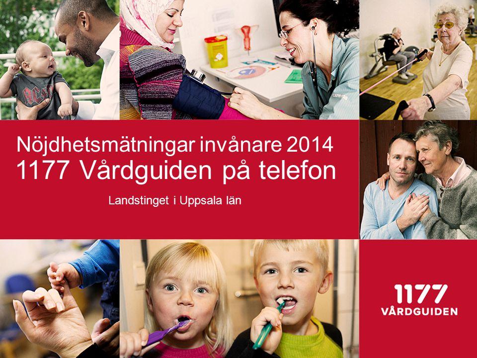 Nöjdhetsmätningar invånare 2014 1177 Vårdguiden på telefon