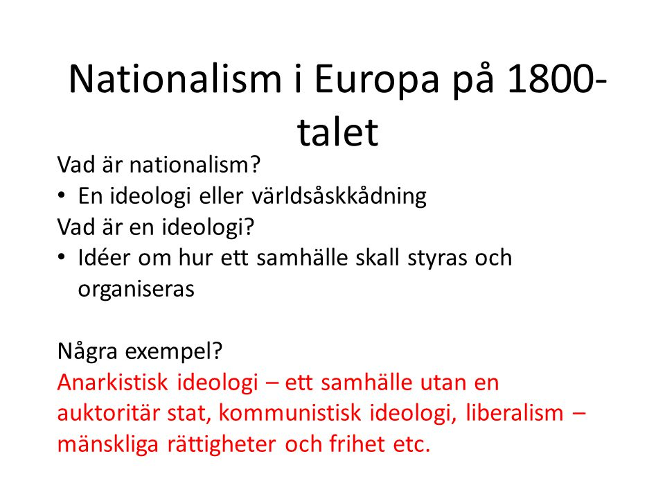 Nationalism i Europa på 1800-talet