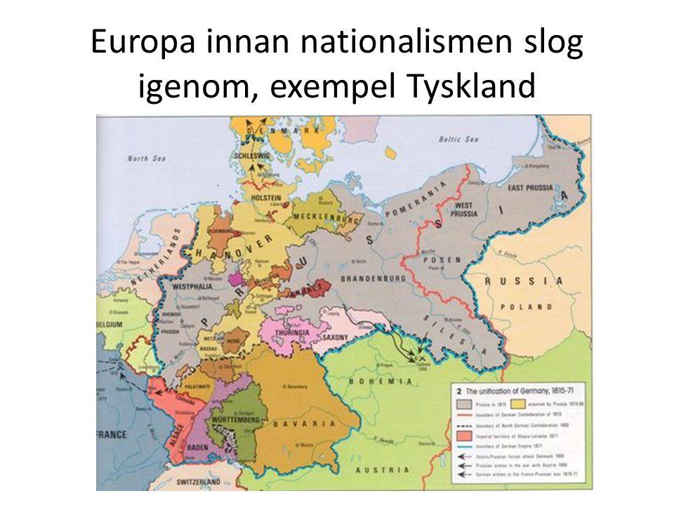 Europa innan nationalismen slog igenom, exempel Tyskland