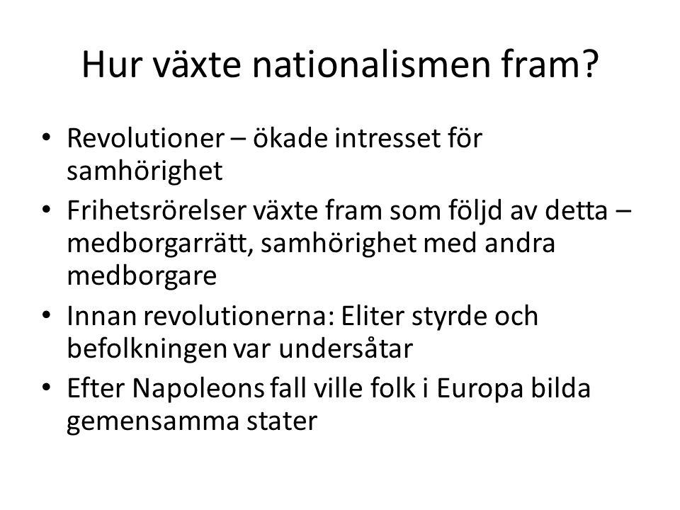 Hur växte nationalismen fram