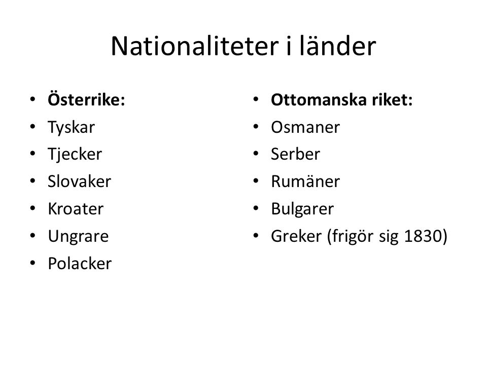 Nationaliteter i länder