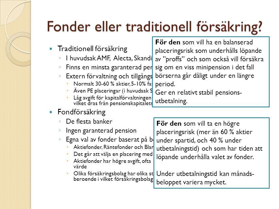 Fonder eller traditionell försäkring