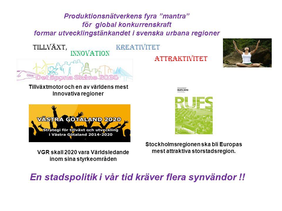 En stadspolitik i vår tid kräver flera synvändor !!