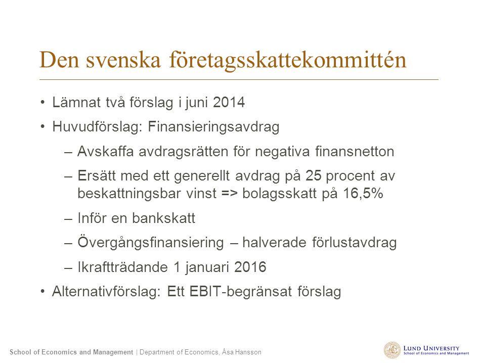 Den svenska företagsskattekommittén