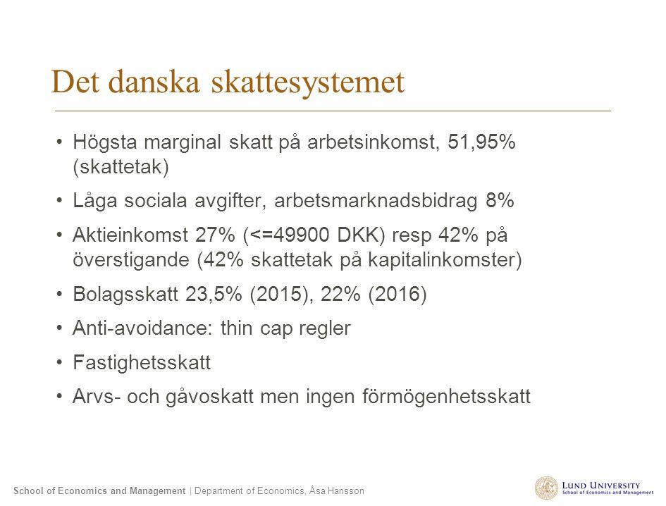 Det danska skattesystemet