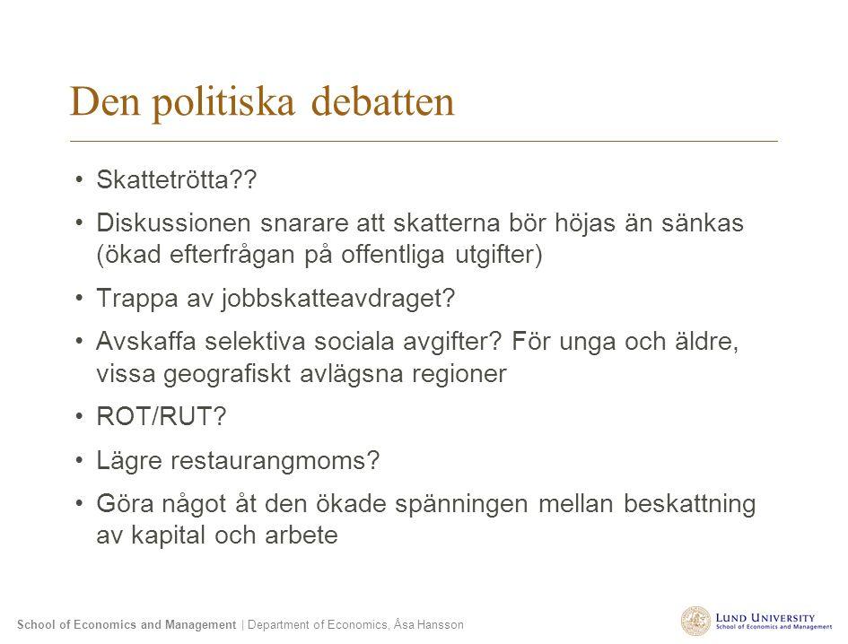 Den politiska debatten