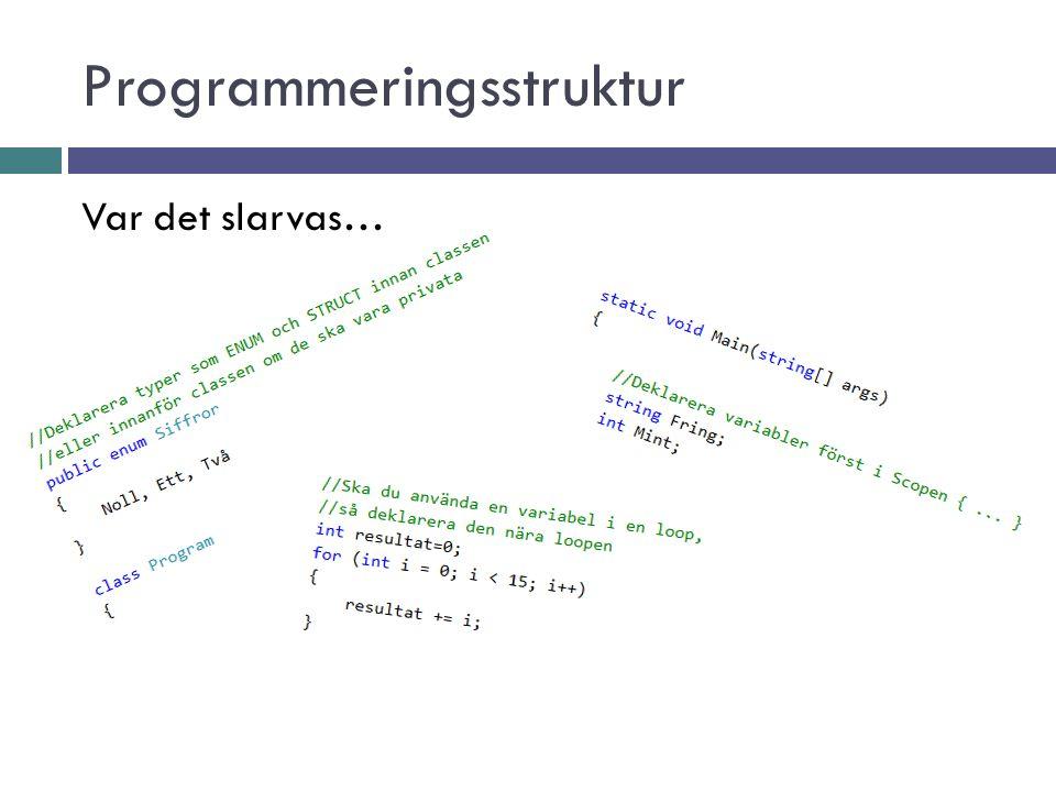 Programmeringsstruktur