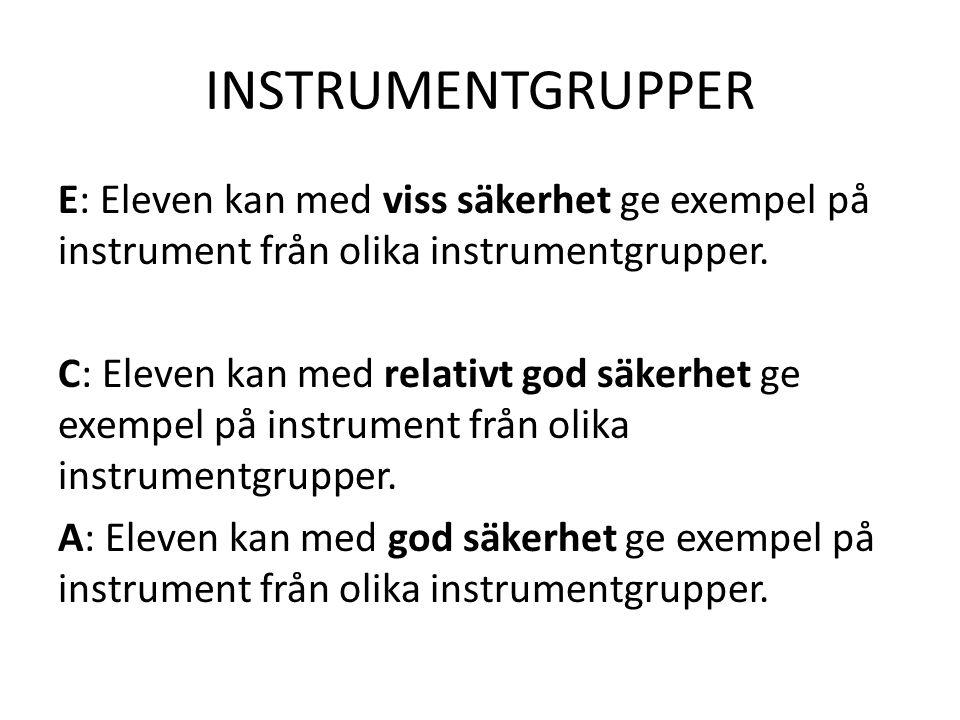 INSTRUMENTGRUPPER