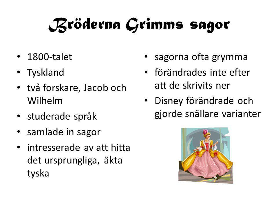 Bröderna Grimms sagor 1800-talet Tyskland