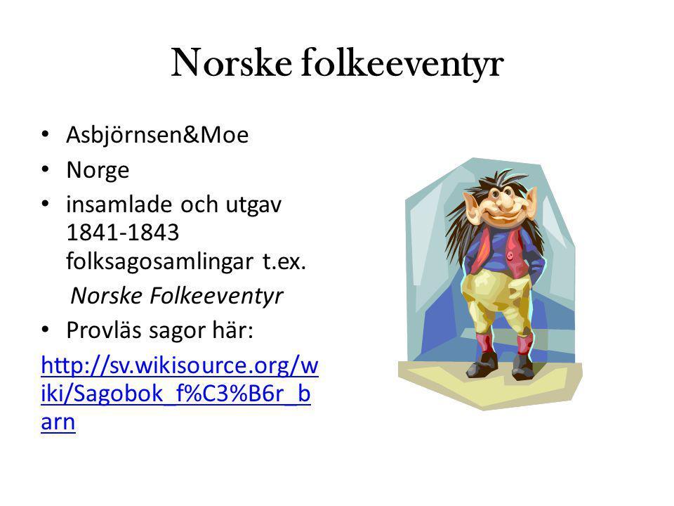 Norske folkeeventyr Asbjörnsen&Moe Norge
