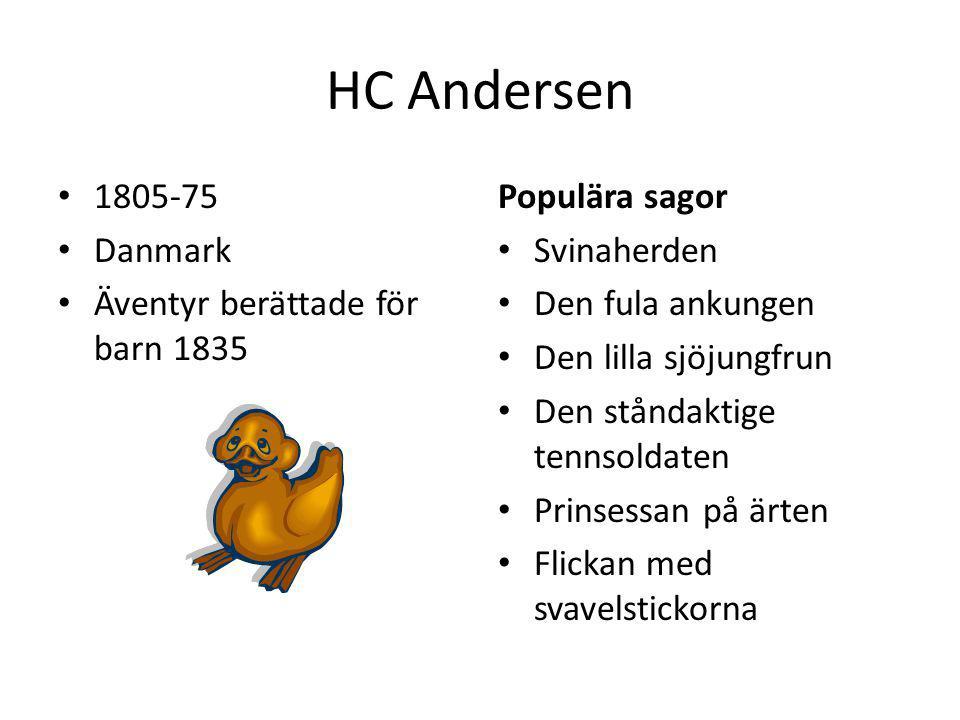 HC Andersen 1805-75 Danmark Äventyr berättade för barn 1835