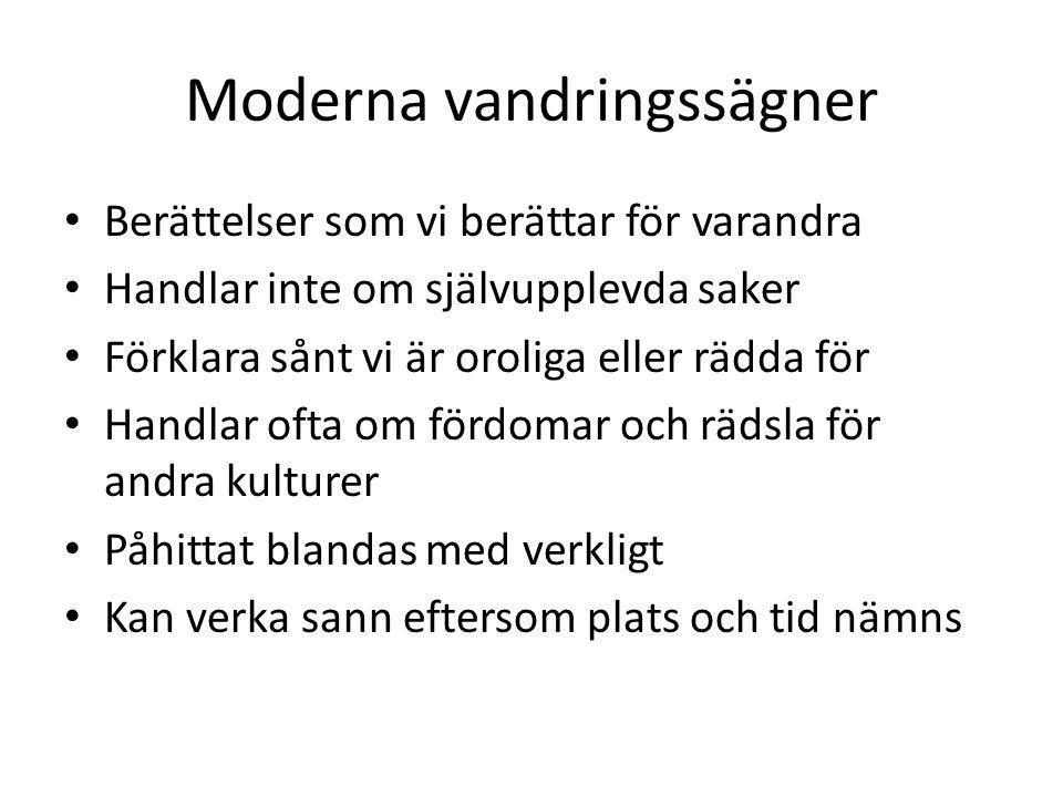 Moderna vandringssägner