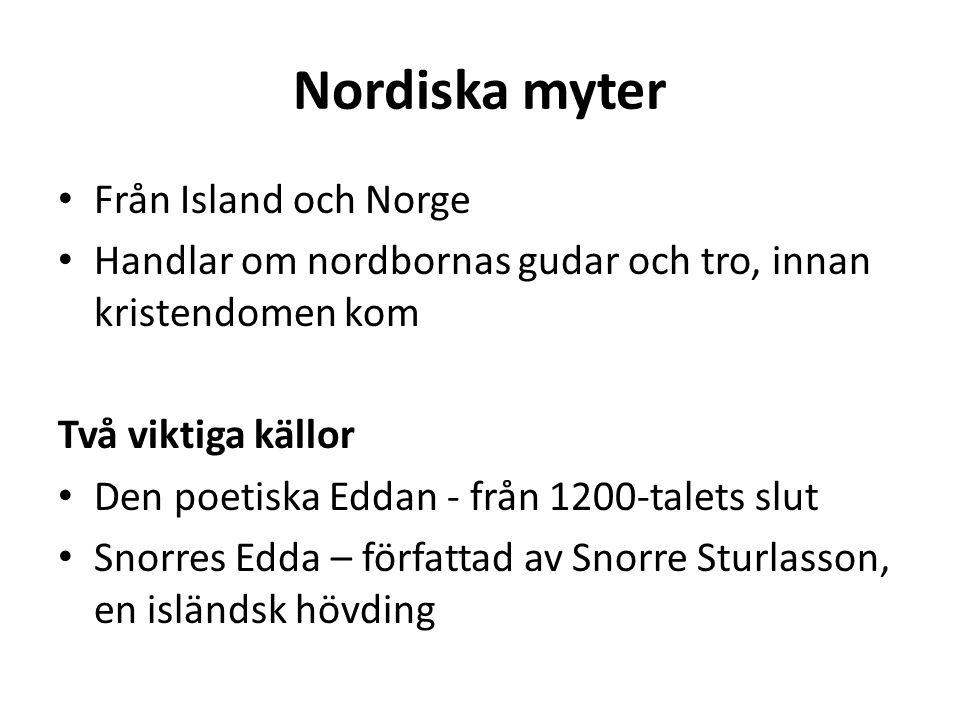 Nordiska myter Från Island och Norge