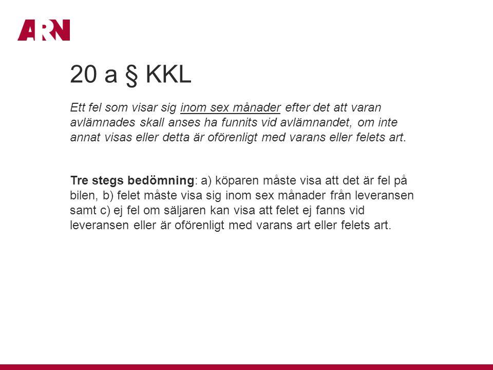 20 a § KKL