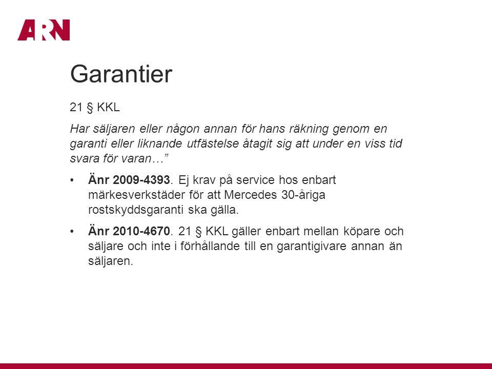 Garantier 21 § KKL.