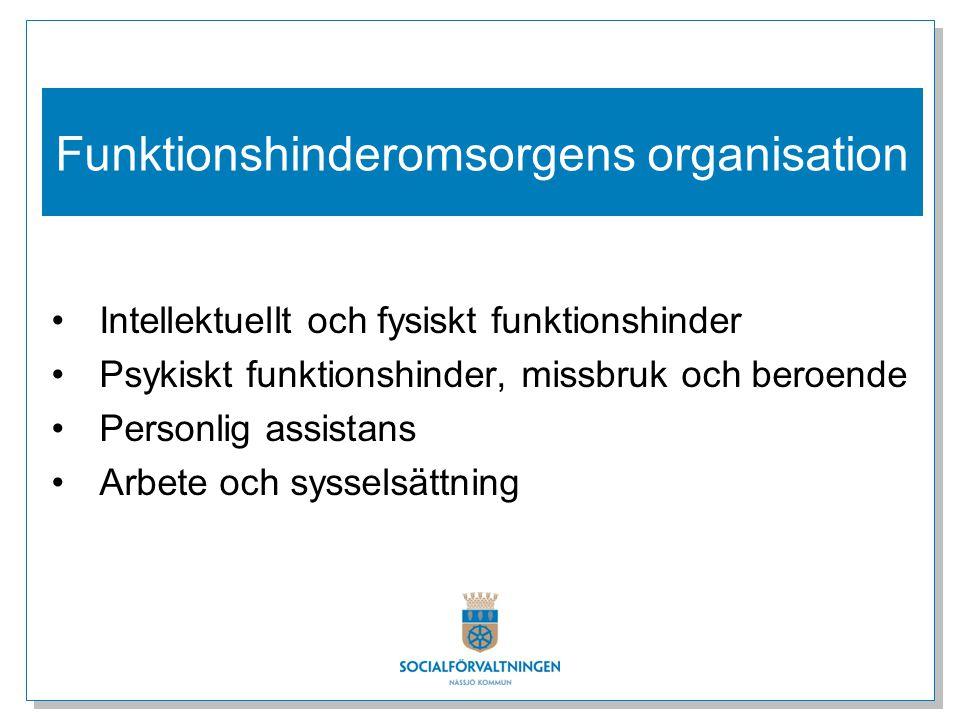 Funktionshinderomsorgens organisation