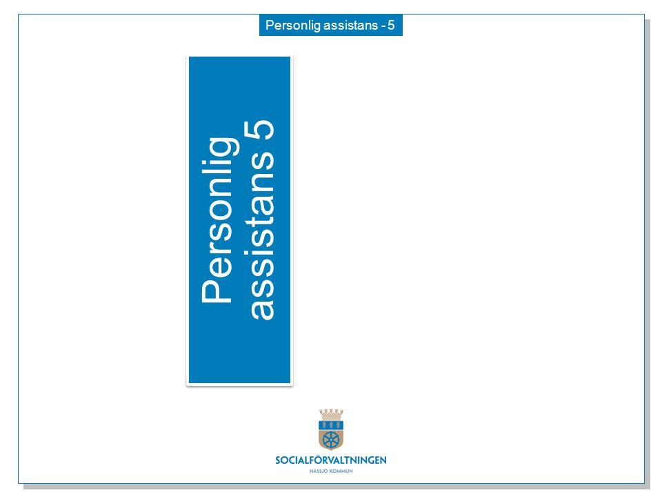 Personlig assistans 5 Personlig assistans - 5