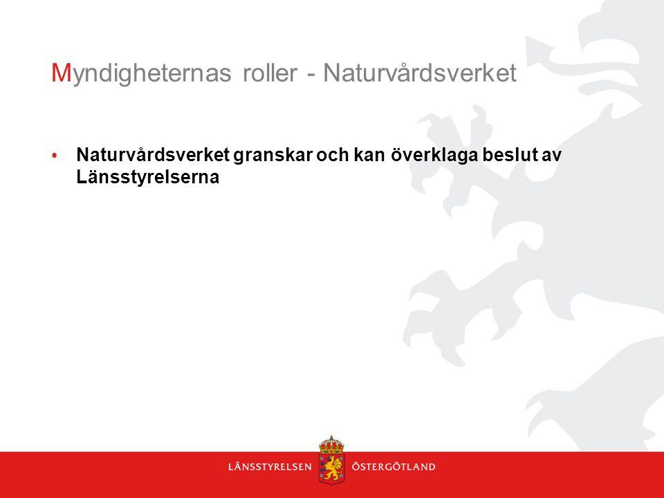 Myndigheternas roller - Naturvårdsverket