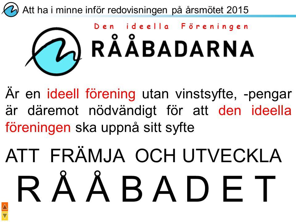 R Å Å B A D E T ATT FRÄMJA OCH UTVECKLA