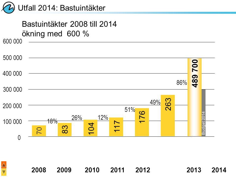 Utfall 2014: Bastuintäkter