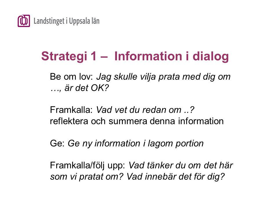 Strategi 1 – Information i dialog