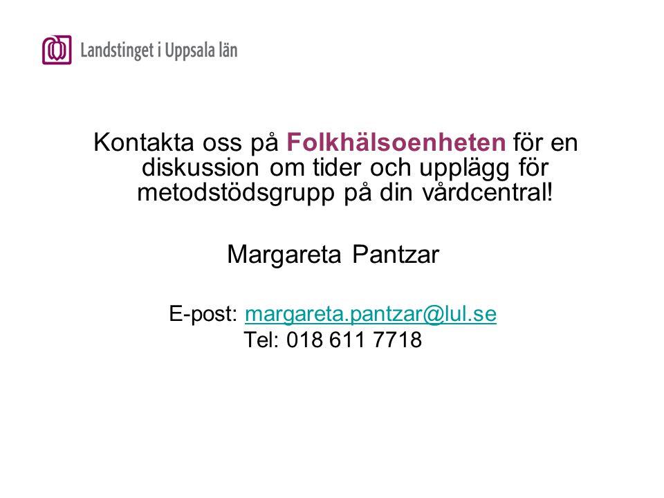 E-post: margareta.pantzar@lul.se