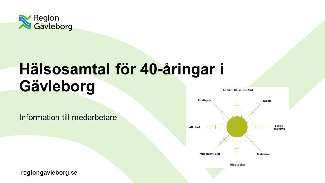 Hälsosamtal för 40-åringar i Gävleborg Information till medarbetare