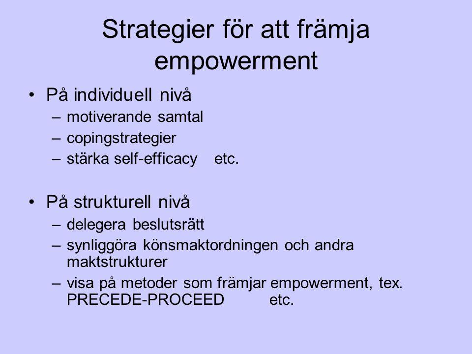 Strategier för att främja empowerment