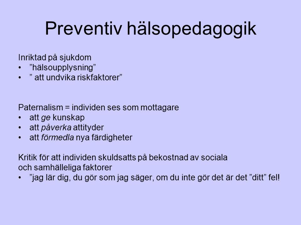 Preventiv hälsopedagogik