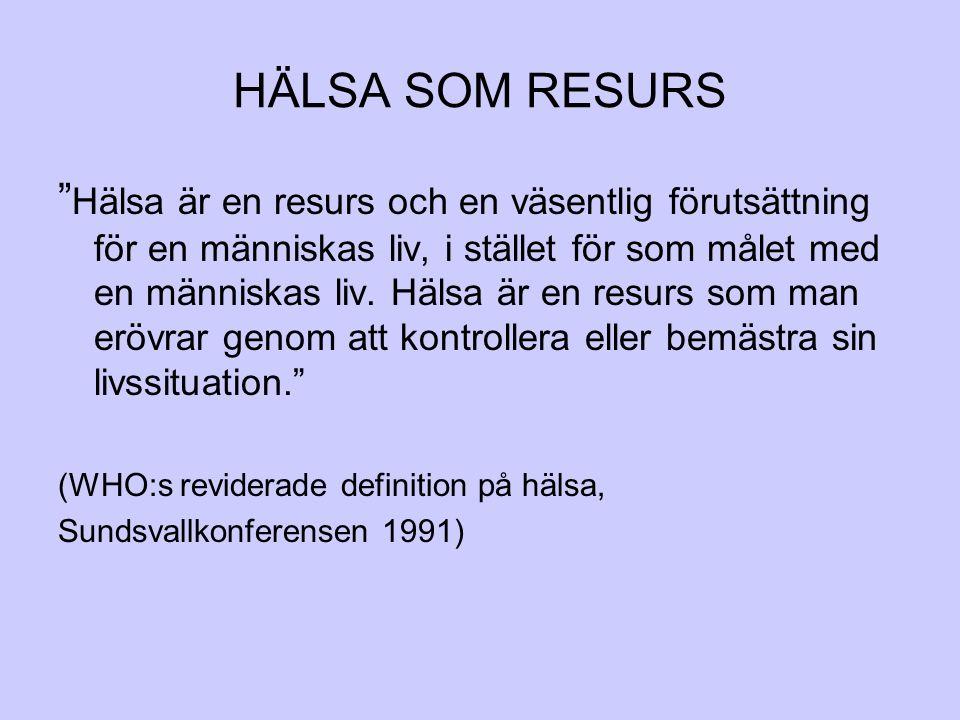 HÄLSA SOM RESURS