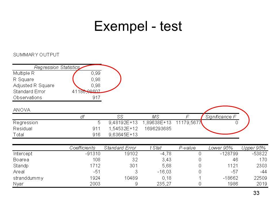 Exempel - test