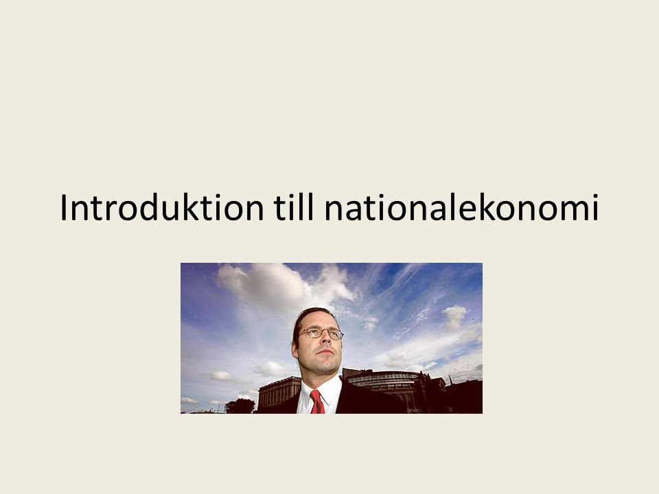 Introduktion till nationalekonomi
