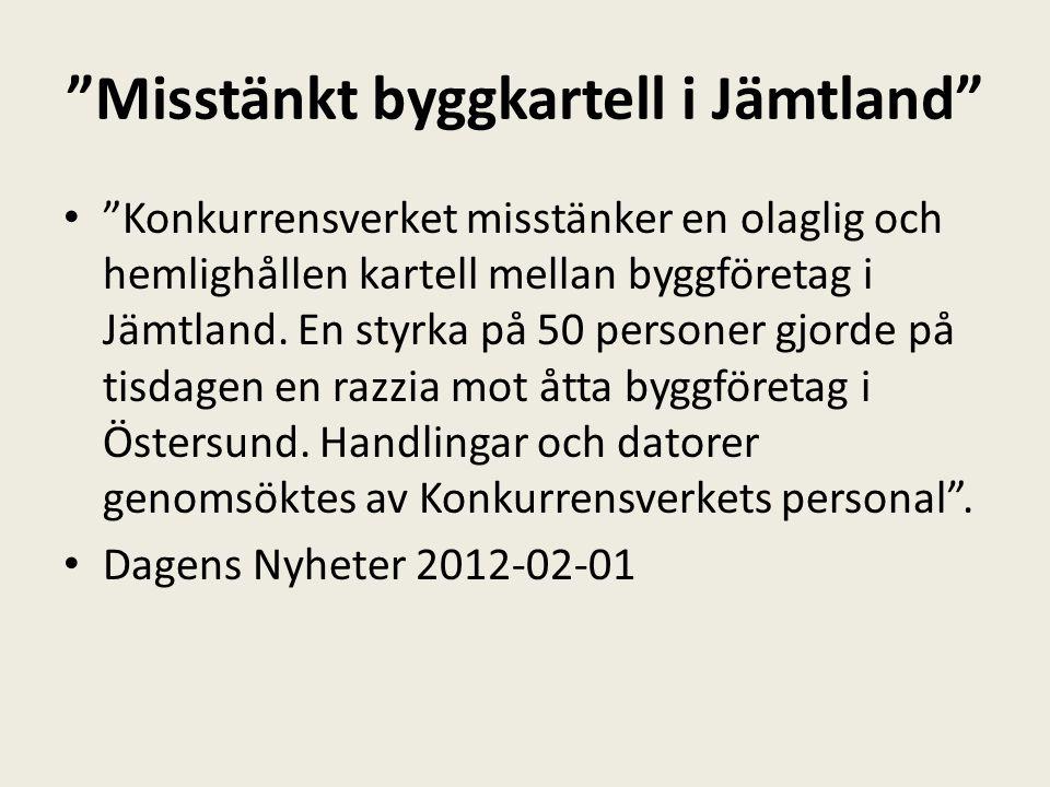 Misstänkt byggkartell i Jämtland