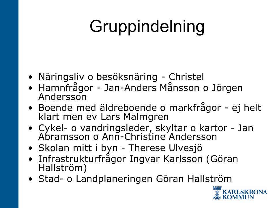 Gruppindelning Näringsliv o besöksnäring - Christel