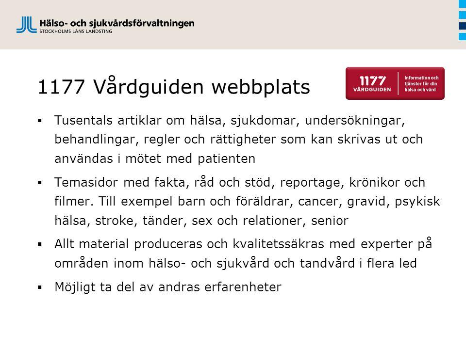 1177 Vårdguiden webbplats