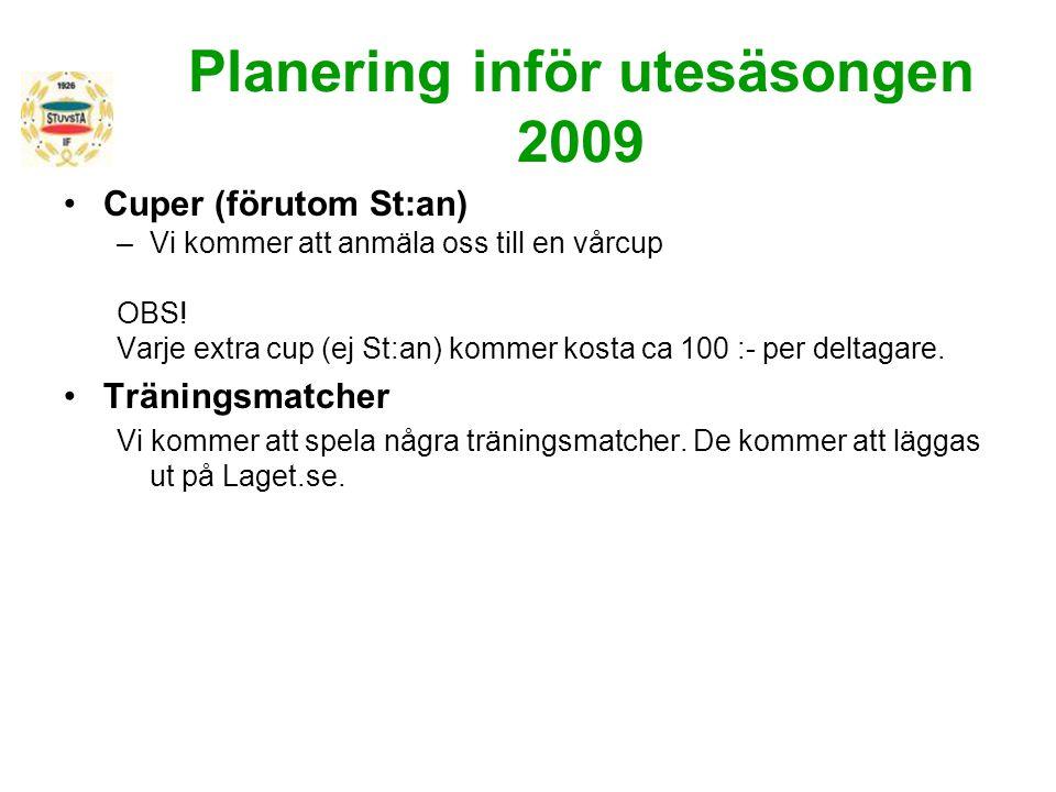 Planering inför utesäsongen 2009