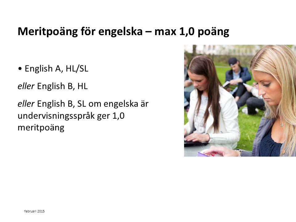 Meritpoäng för engelska – max 1,0 poäng
