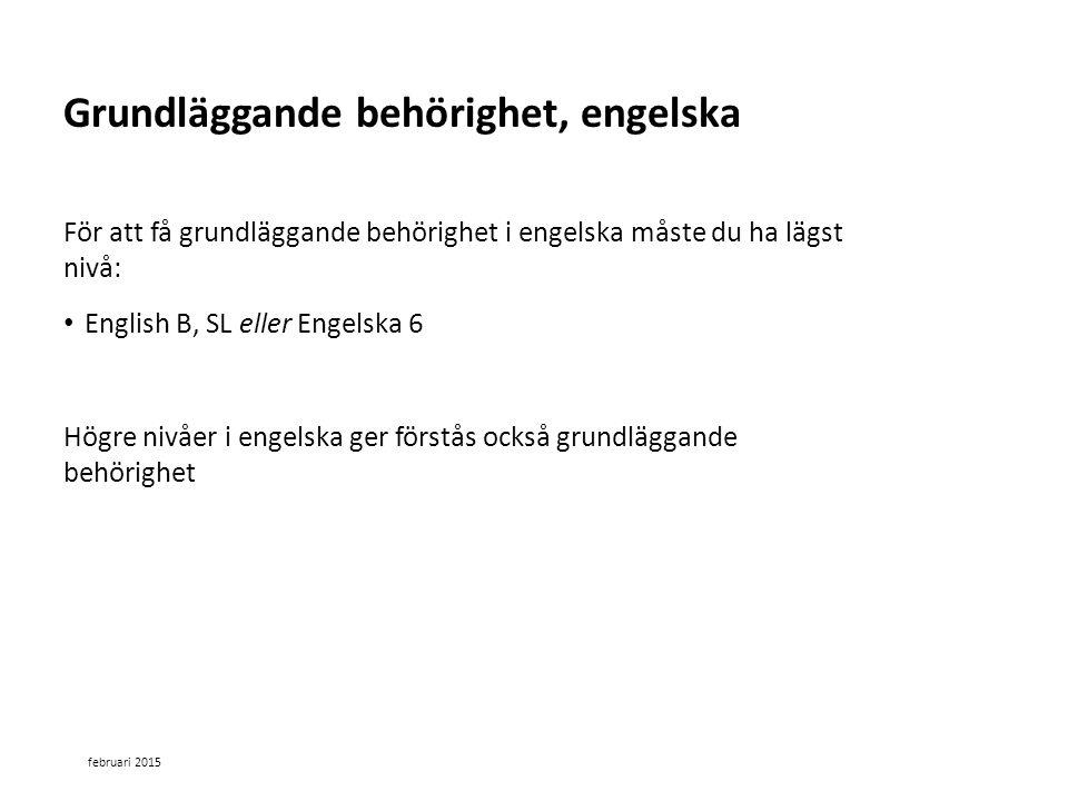 Grundläggande behörighet, engelska