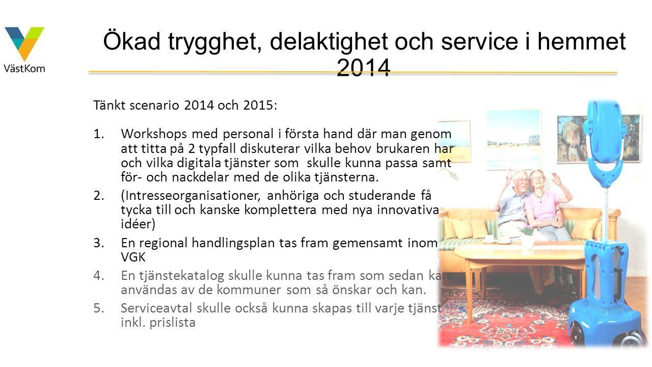 Ökad trygghet, delaktighet och service i hemmet 2014