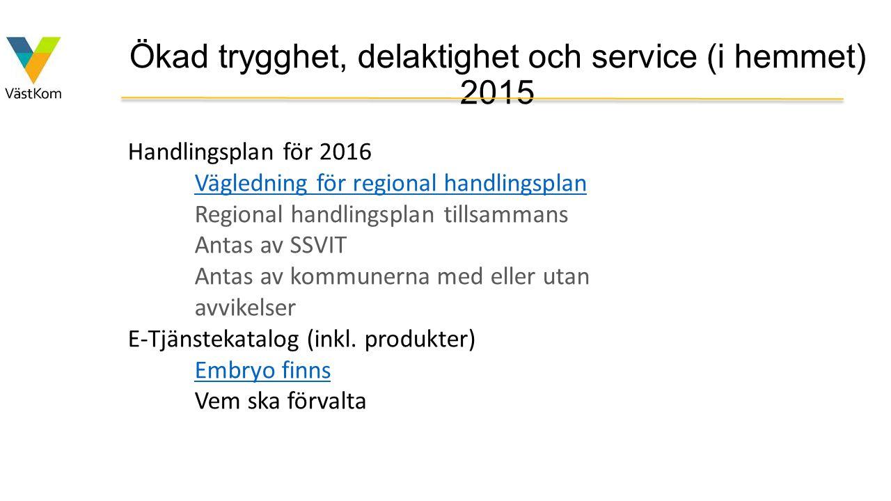 Ökad trygghet, delaktighet och service (i hemmet) 2015