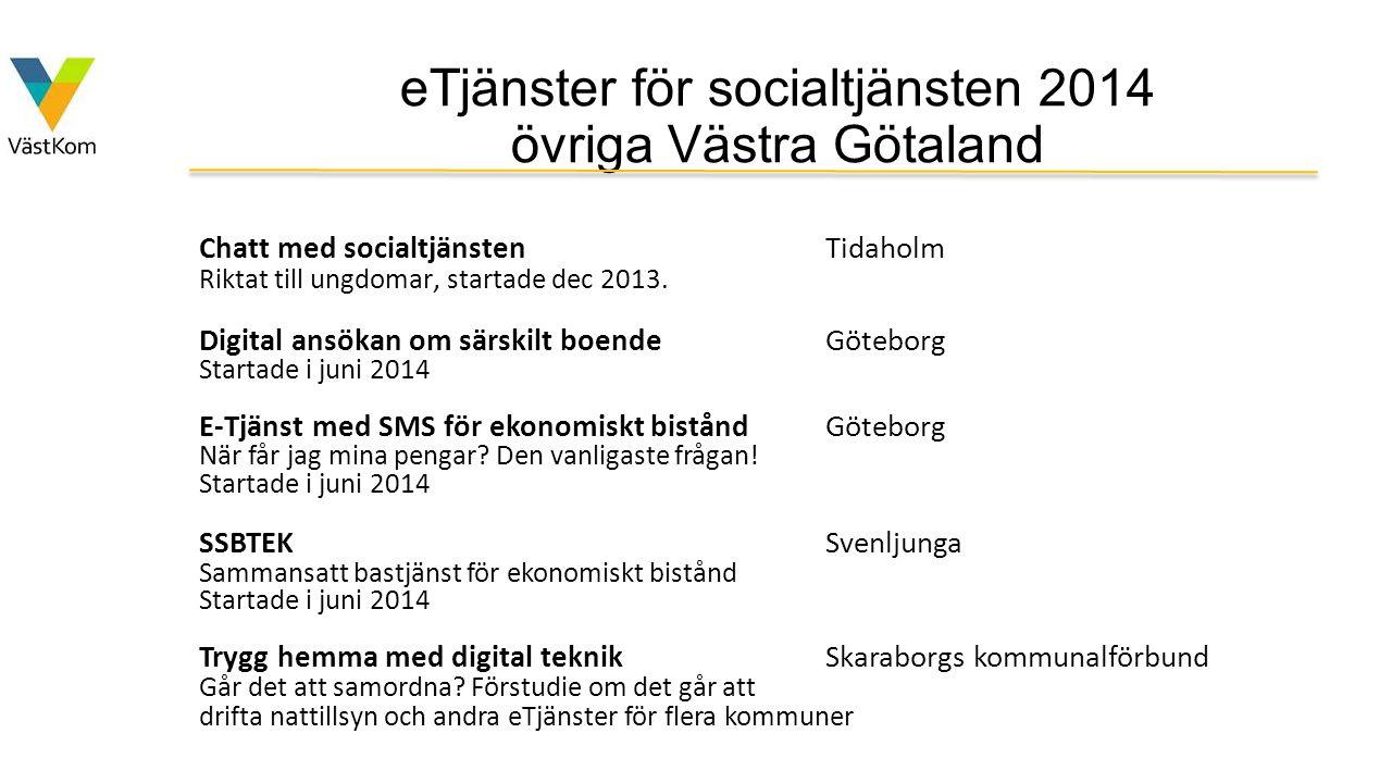 eTjänster för socialtjänsten 2014 övriga Västra Götaland