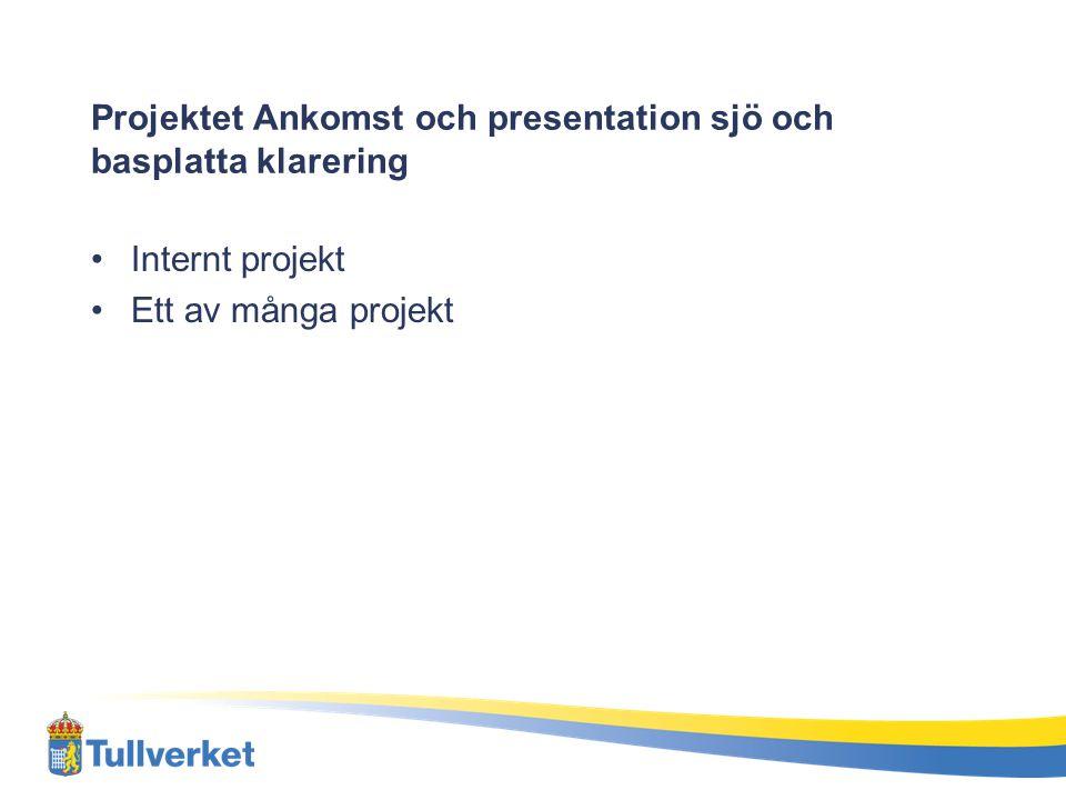 Projektet Ankomst och presentation sjö och basplatta klarering