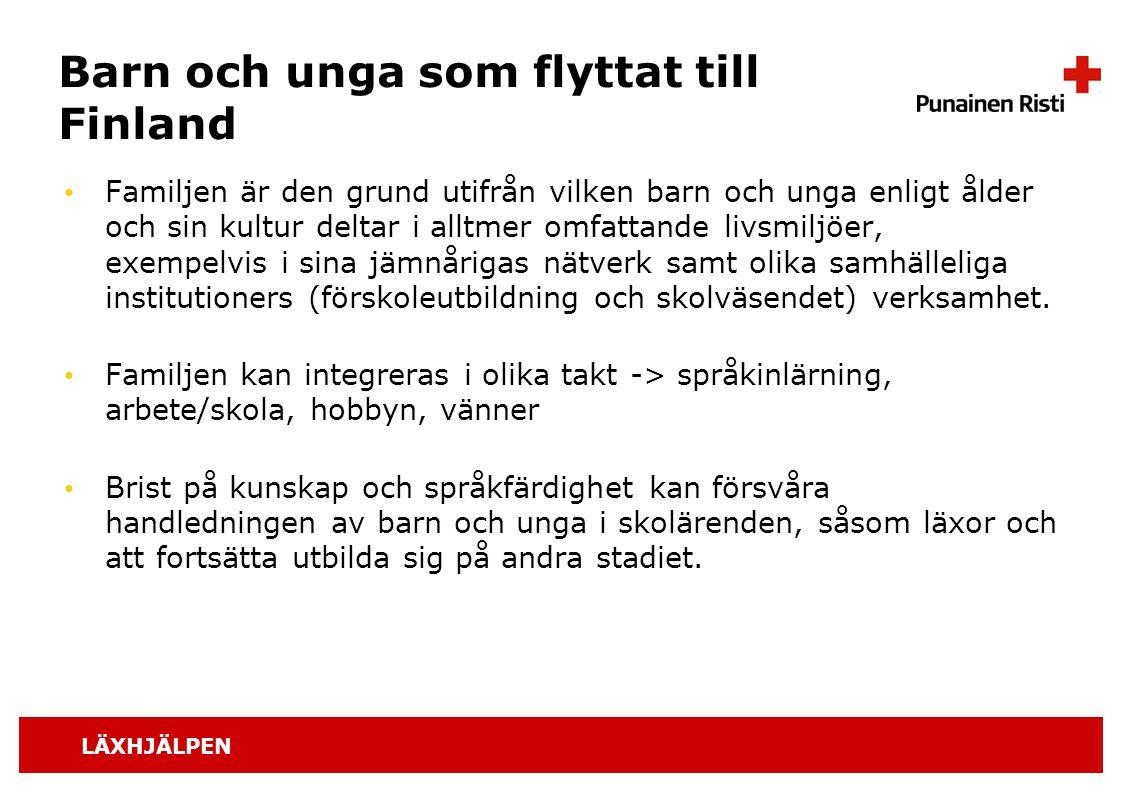 Barn och unga som flyttat till Finland